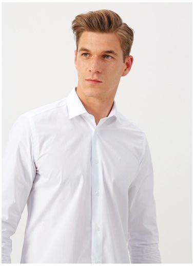 Altınyıldız Classics Altınyıldız Classic Uzun Kollu Beyaz Slim Fit Gömlek Beyaz